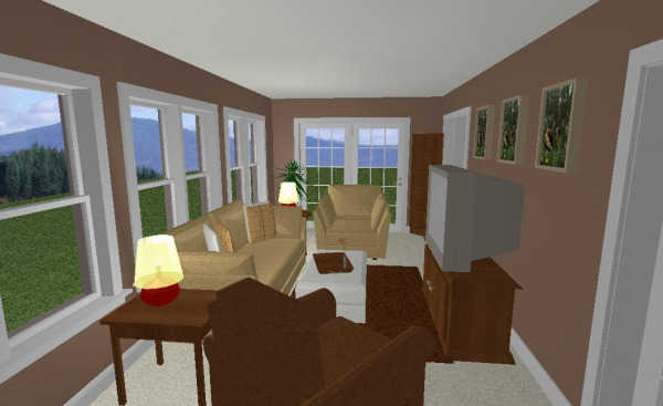 Family Room Rendering 1