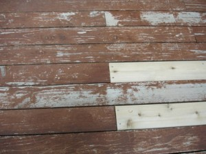 Close-Up of the Deck Before Staining