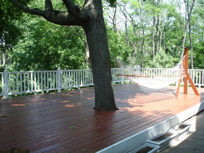 The Newly Stained Deck