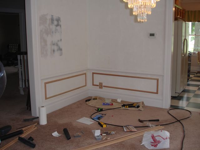 Picture Frame Moulding in the Dining Room