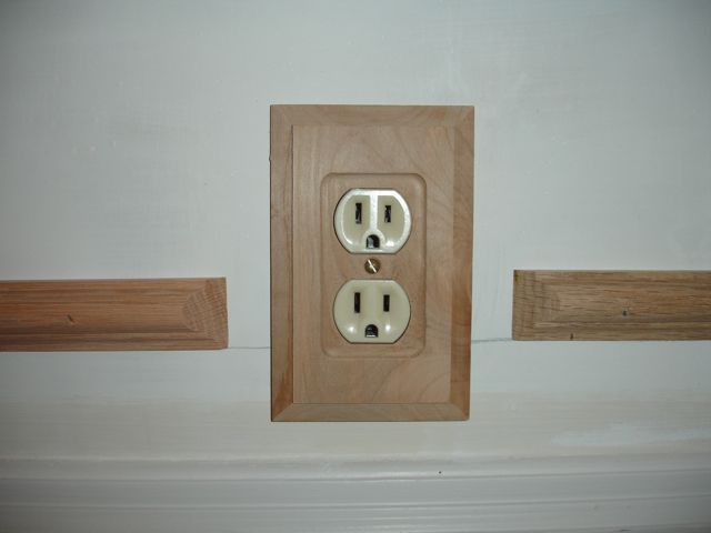 Moulding Around Outlets