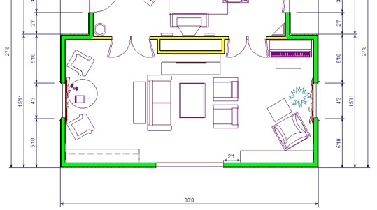 Our old house blog archive new furniture for the for Living room floor plan layout