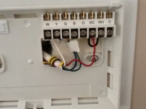The Wiring for the Old Thermostat