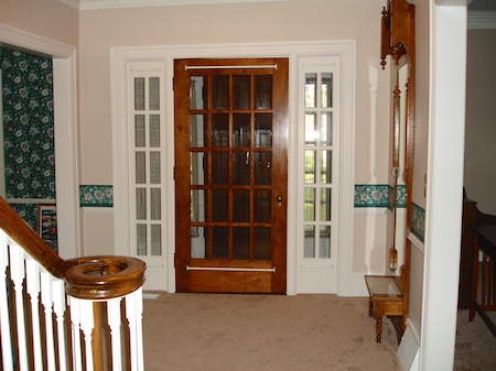 The entry way ... shortly after we moved in in 2007.