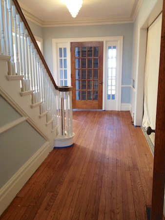 The entry way - stained, with no polyurethane.
