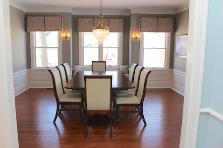 Refinished Hardwood Floors in the Dining Room