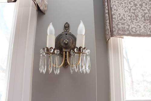Clean and Sparkly wall sconces