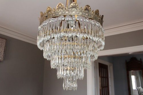 Clean and Sparkly Chandelier