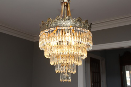Clean & Sparkly Chandelier!