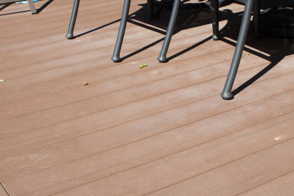 Dust on the AZEK decking.