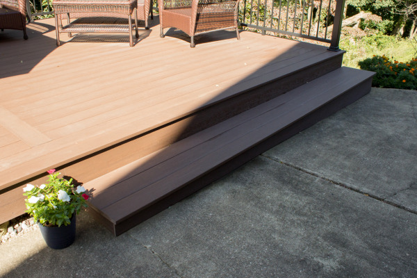 The step that was added for the new deck.
