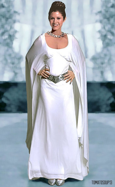 Princess Leia in her Ceremonial Dress from Star Wars: A New Hope