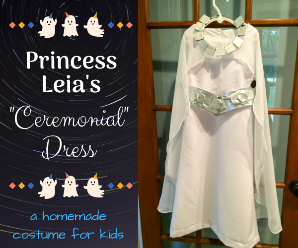 Princess Leia's Ceremonial Dress - a homemade costume for kids
