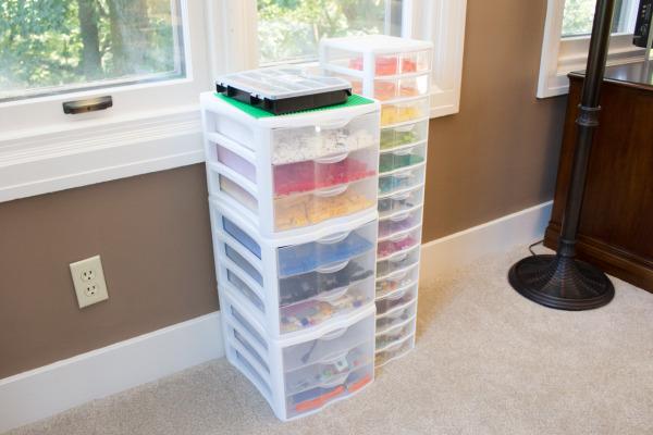 Plastic Storage Drawers for Legos