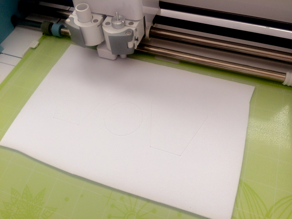 Cutting craft foam with the Cricut