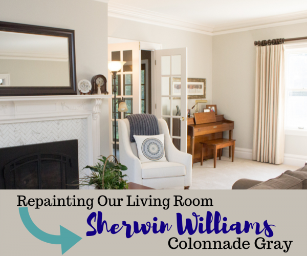 Repainting Our Living Room - Sherwin Williams Colonnade Gray (Collonade Gray)